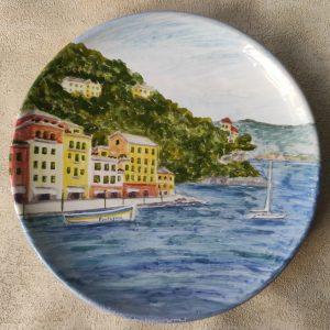Piatto da muro con Portofino