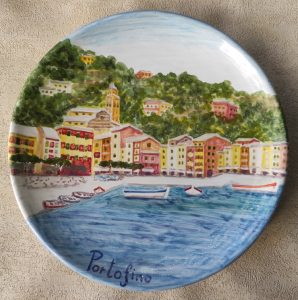 Piatto Portofino in ceramica dipinto a mano