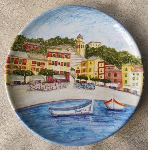 Ceramica con piazzetta di Portofino
