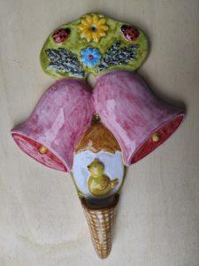Ceramica pasquale decorativa da appendere