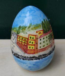 Uovo a scatola in ceramica idea regalo di Pasqua