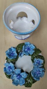 Brucia profumi in ceramica e porta-candela