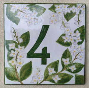 Ceramica con numero civico