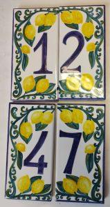 Numeri per la casa in ceramica