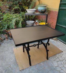 Tavolo in ferro per piastrelle